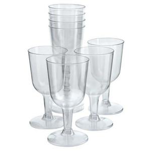 Plastic Wine Glasses - 6 Pack