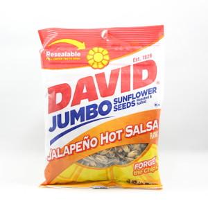 David Jumbo Sunflower Seeds - Jalapeno Hot Salsa - 5.25 Oz.