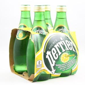 Perrier Mineral Water - Lemon Flavored - 330ml Bottles - 4 Pack