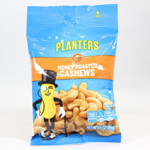 Planters - Honey Roasted Cashews - 3 Oz.