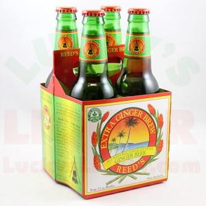 Reed's Extra Ginger Brew - Ginger Beer - 12 Fl. Oz. Bottles - 4 Pack