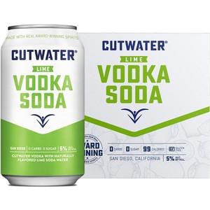 CutWater Spirits - FUGU Lime Vodka & Soda