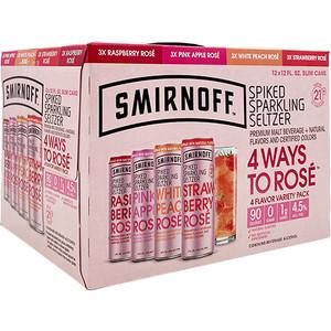 Smirnoff Spiked Sparkling Seltzer 4 Ways To Rose Variety Pack