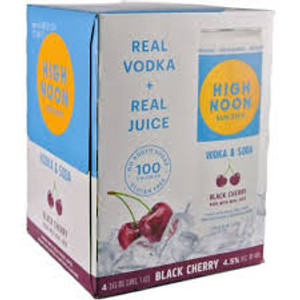 High Noon Sun Sips Vodka And Soda Black Cherry