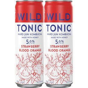 Wild Tonic Hard Jun Kombucha - Strawberry Blood Orange