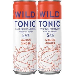 Wild Tonic Hard Jun Kombucha - Mango Ginger