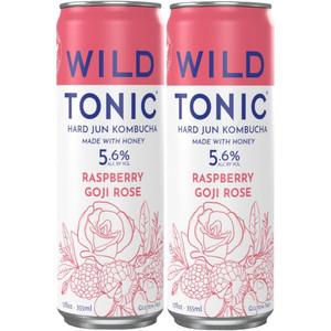 Wild Tonic Hard Jun Kombucha - Raspberry Goji Rose