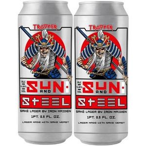 Iron Maiden & Robinson's Brewery - Sun And Steel - Sake Lager