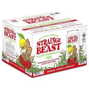 Strainge Beast Hard Kombucha - Ginger, Lemon & Hibiscus