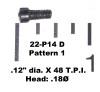 """22: SCREW, .12"""" dia. X 48 T.P.I. - Pattern 1"""