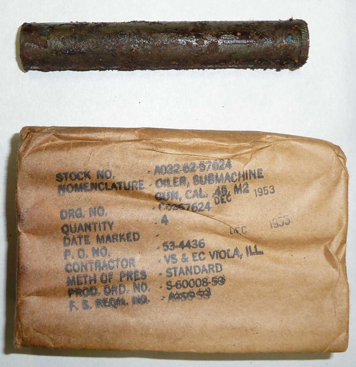 USGI SMG Oiler 1950s M2/M3 (1 included)