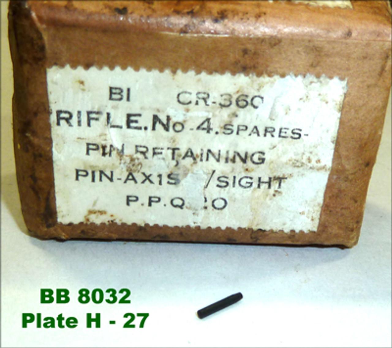 52:  PIN, retaining, pin, axis, rear sight (NOS)