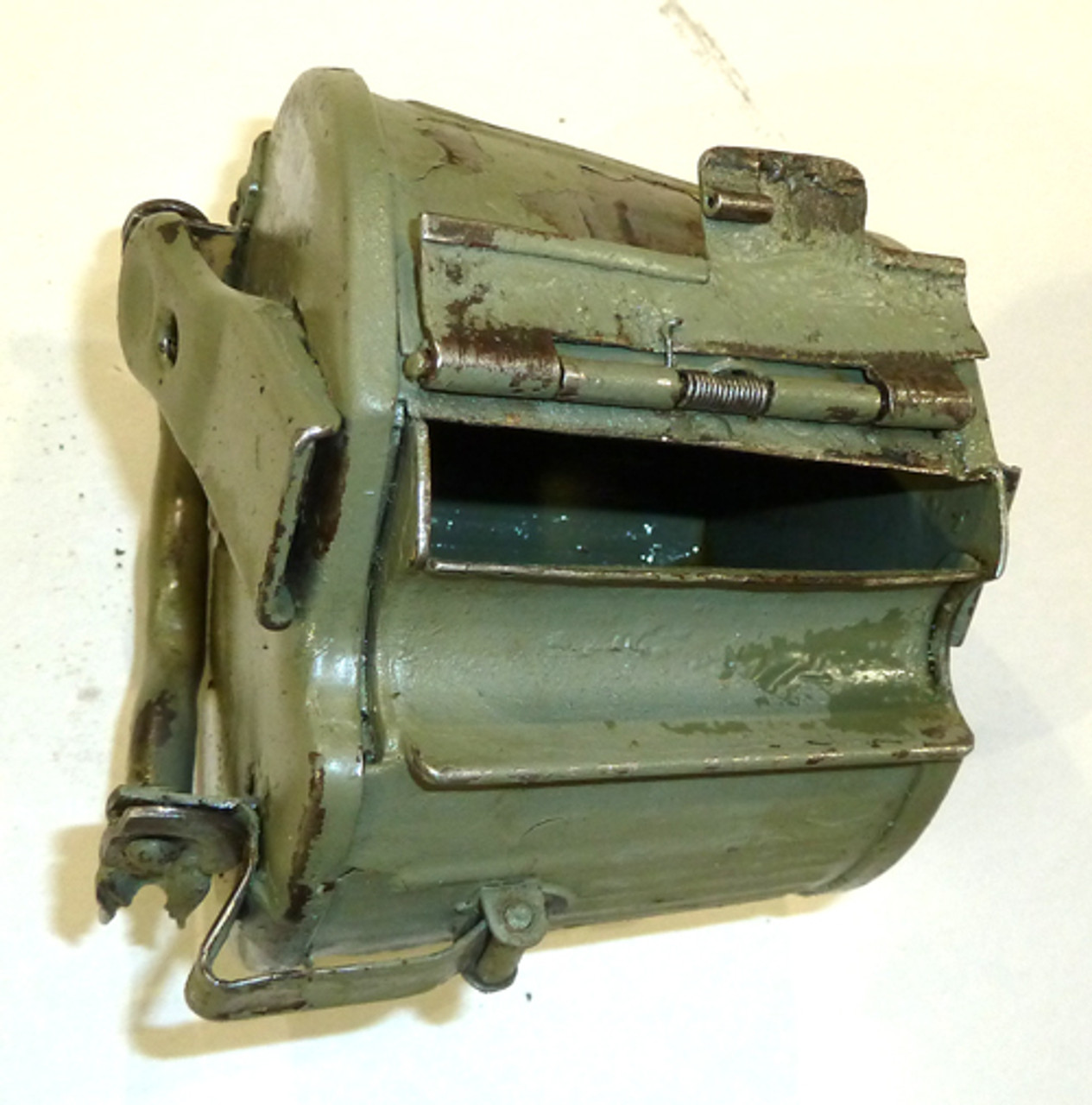 Rare Variation ORIGINAL WW2 Marked MG34/42 Basket Drum (Yugo repainted)