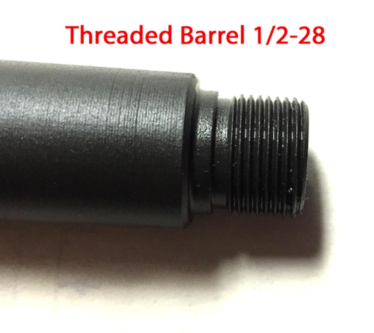 "Stemple STG 9mm Barrel 16"" Threaded 1/2-28"
