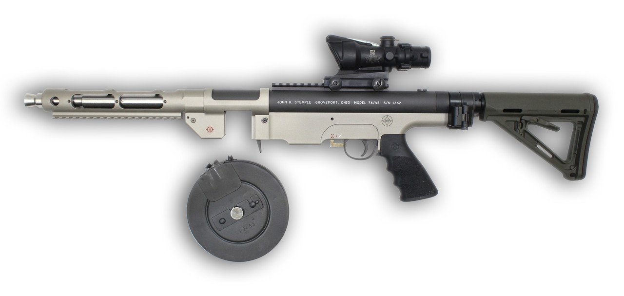 Shown with Law Tactical Side Folding and 4x ACOG Options