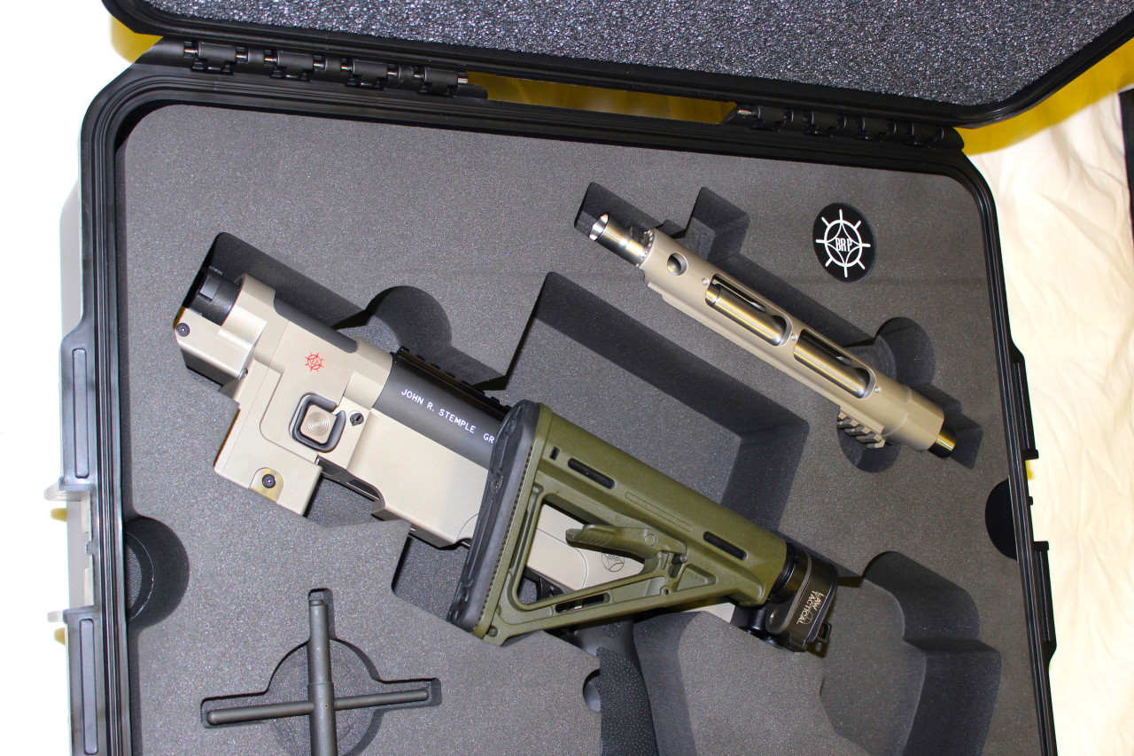Shown with folding AR stock setup