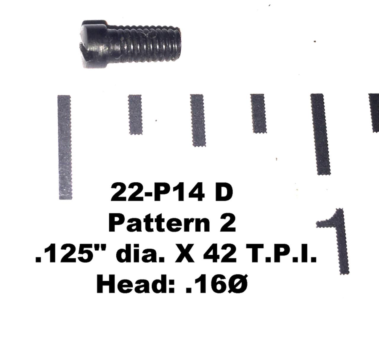 """22: SCREW, .125"""" dia. X 42 T.P.I. - Pattern 2"""