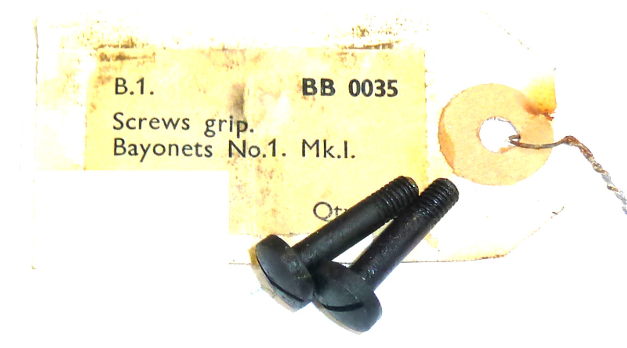 9:  Bayonet No. 1 Grip Screws (set of 2)