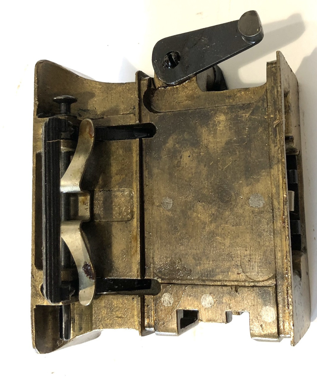 Australian Brass Feed Block Assembly with Steel Guide - numbered