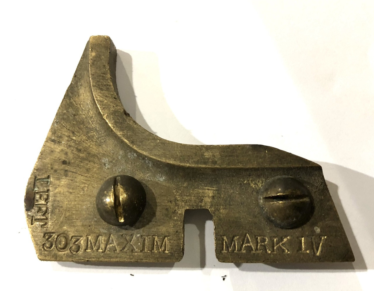 Centering Block - Left with Mounting Screws - MAXIM markings