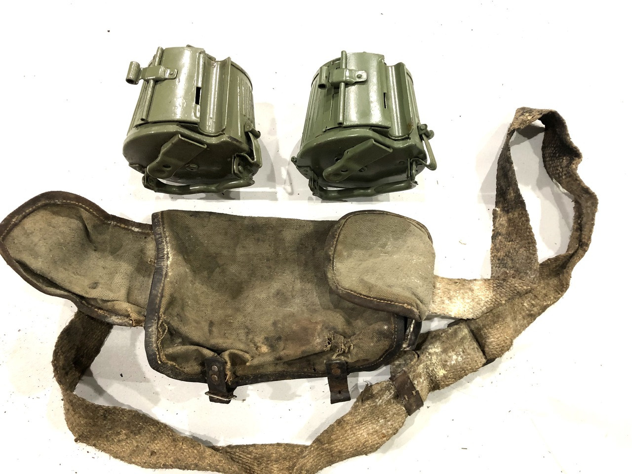2x MG34/42 Basket Drums (Yugo/Good Condition) with low grade carrying case