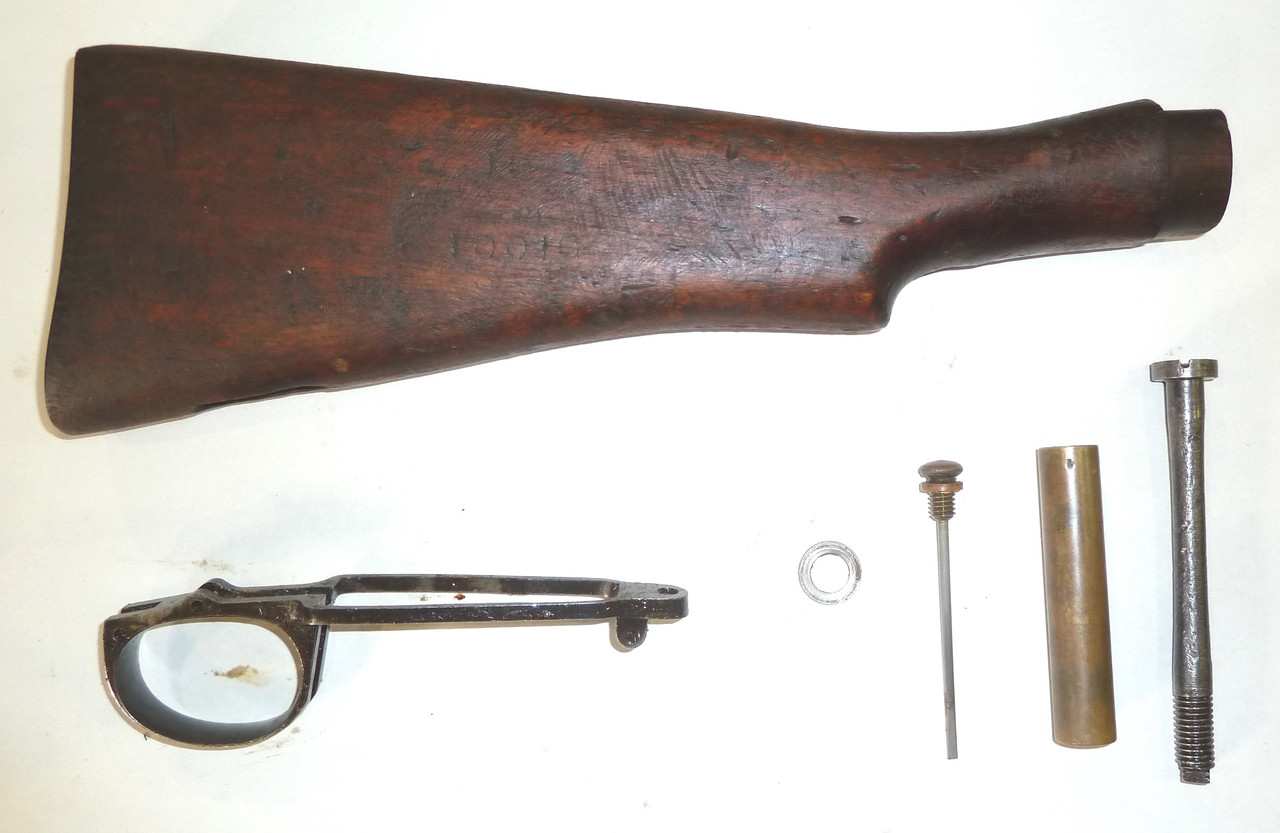 Early Lightened No 1 Mk 3 Butt Stock, Oiler, and Parts (Lot 2)