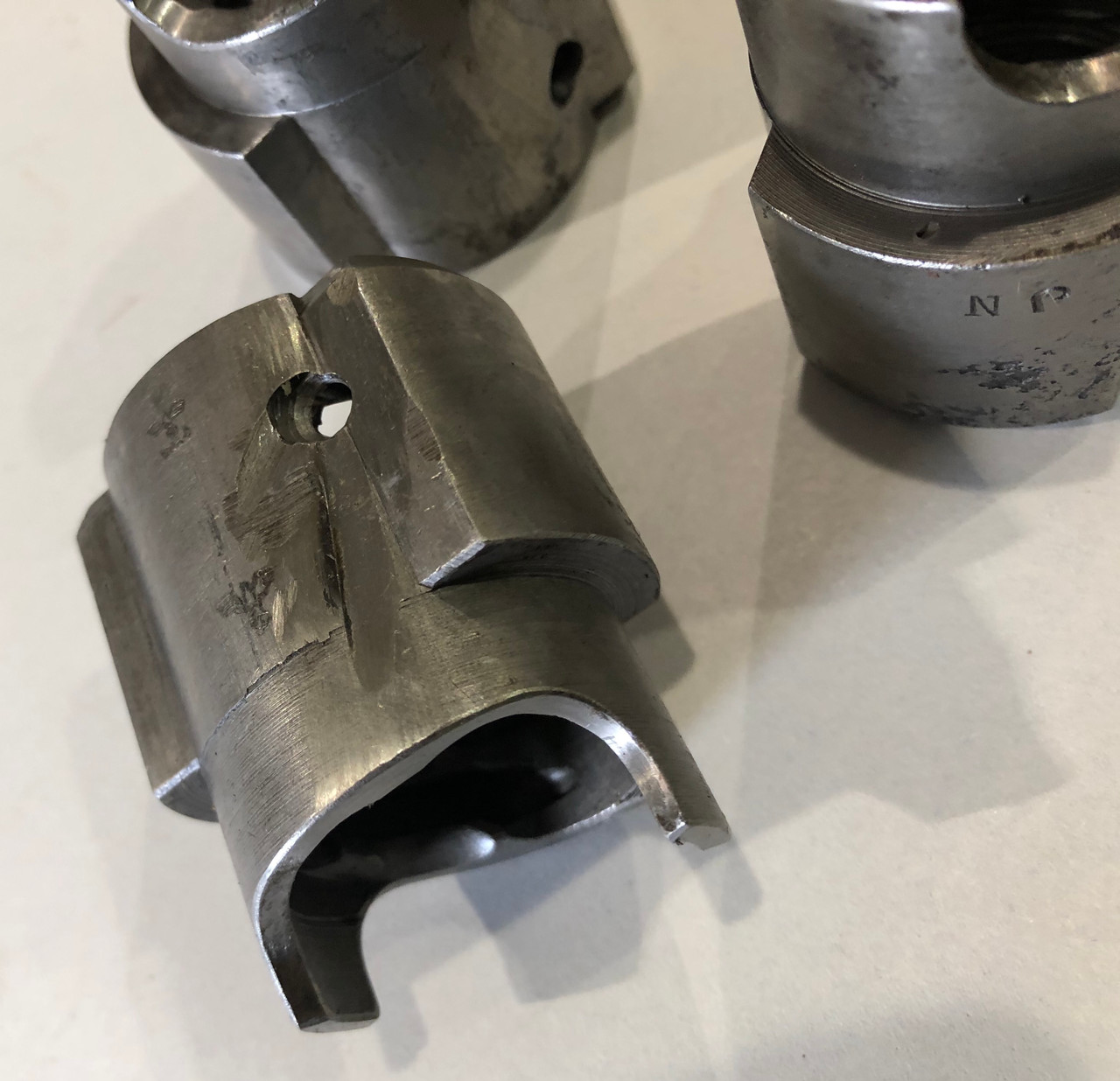 Lot of Three Original MG34 Barrel Collars with blems
