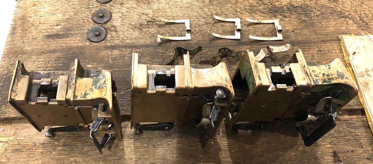 Lot of three Vickers Feed Blocks