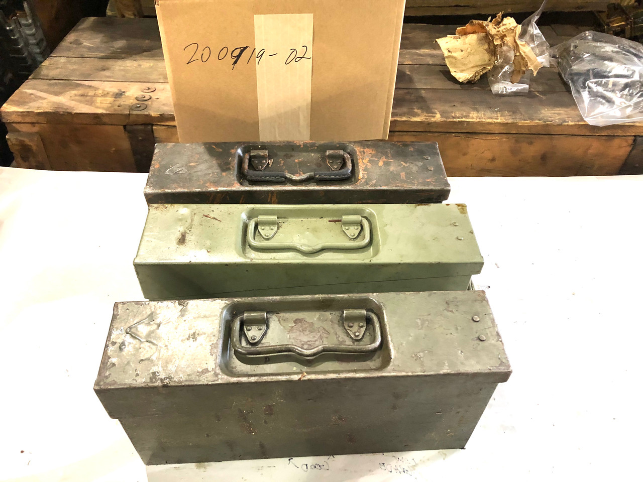 Lot of 3 VZ37 8mm Ammo Cans  - 200919-02