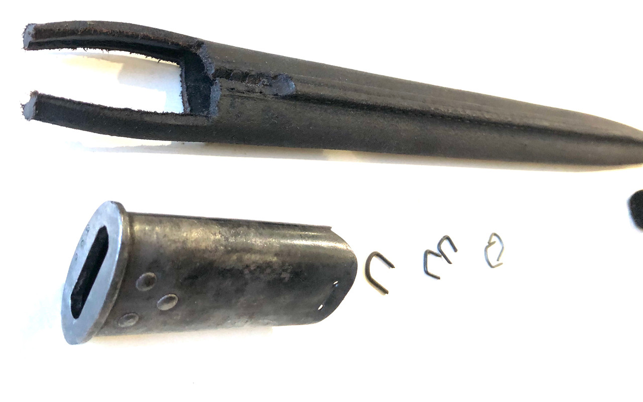 1907 Bayonet No. 1 Scabbard Kit - Early 'teardrop' numbered