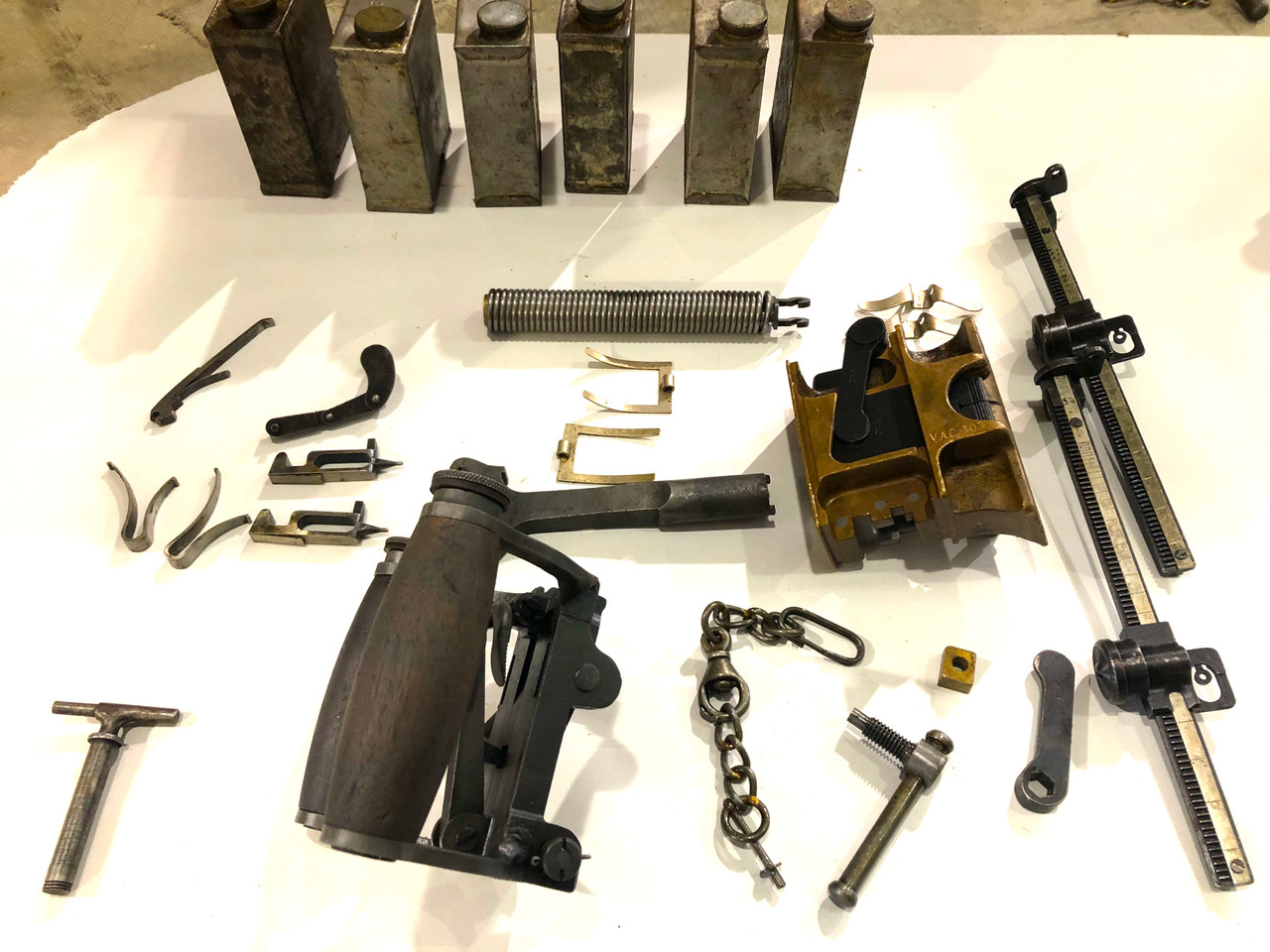 LOT 201009-04: Vickers MMG Rear Crosspiece - Grip Assembly (SHIPS Free)