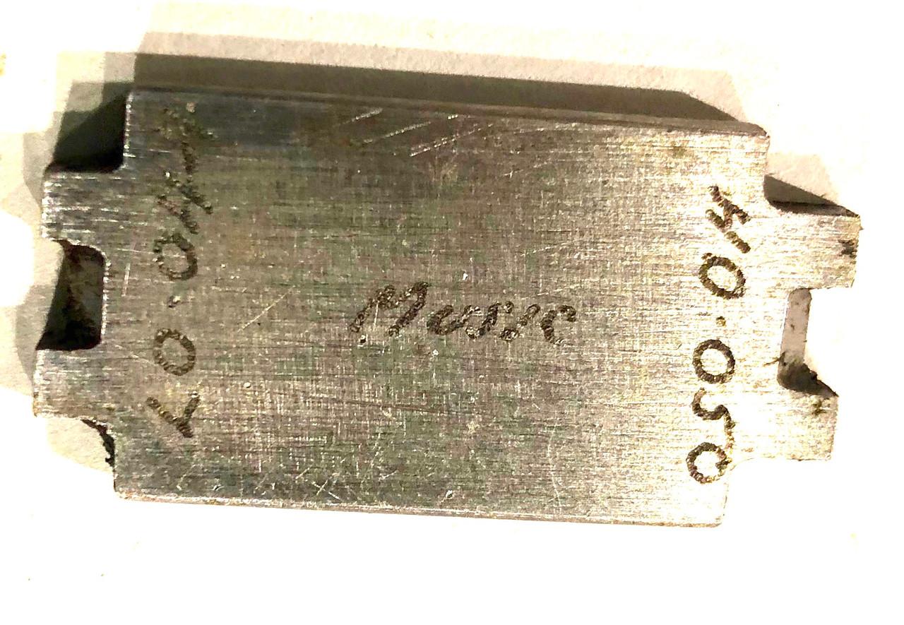 Thompson Firing Pin Protrusion Gauge - script pattern