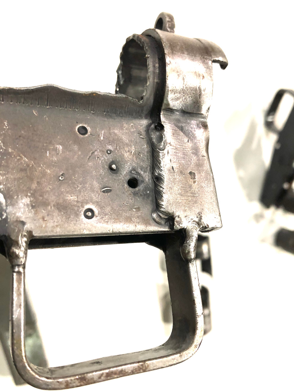 Lot 5: Two sets Early Wrapped MkII Cut Receiver Parts - both patterns - and 1 Magazine