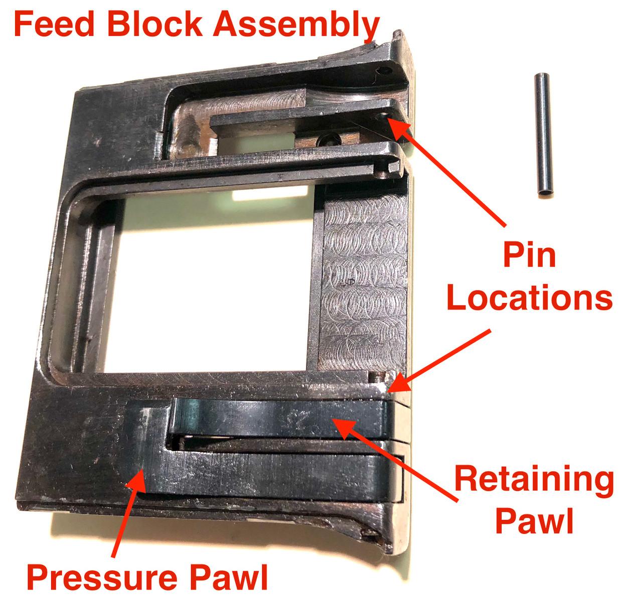 MG34 Top Cover Feed Block Pin
