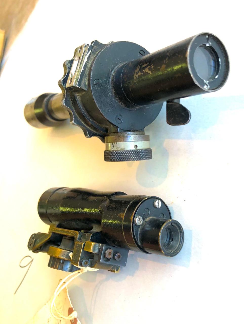 Lot of Two Military Optics - M38 Telescope & 36 M.n. pu tavcso 2x20°x8mm