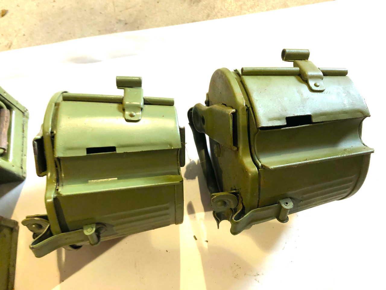 MG34 & 42 Basket Drums, Ammo Cans, & Barrel Carrier Lot 210428-11