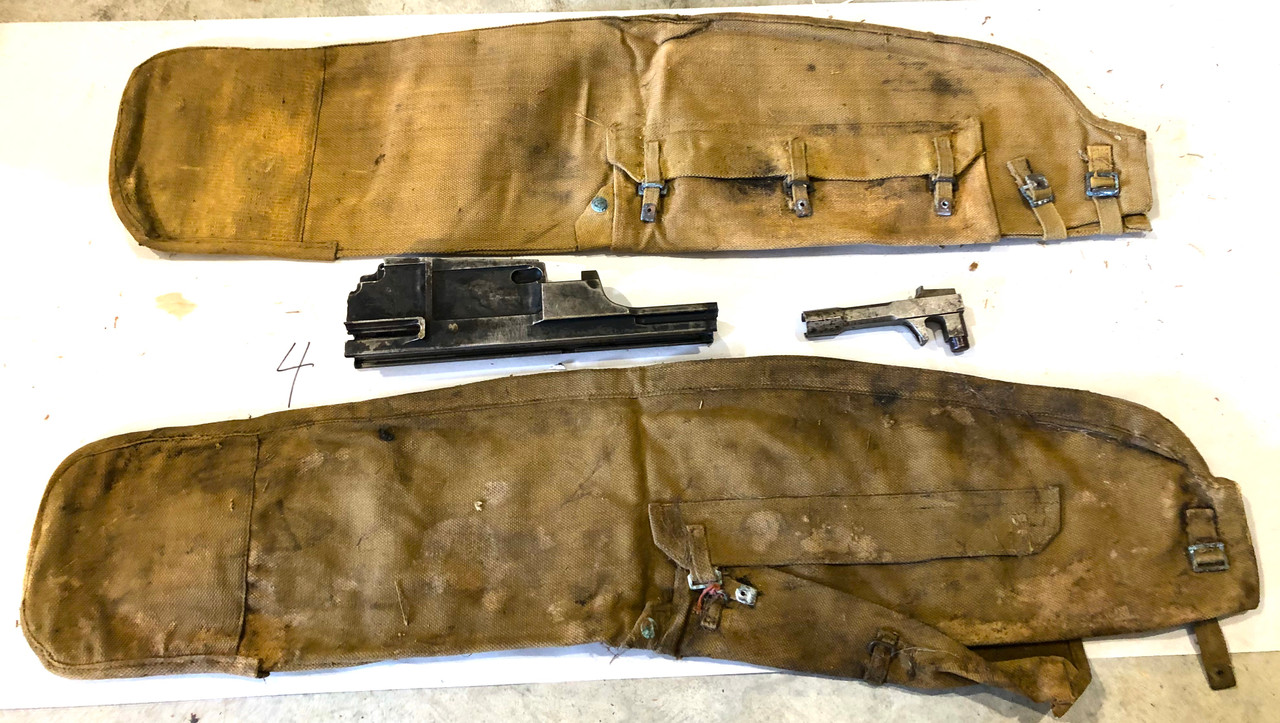Lot 4: Bren Parts Lot with Mk1 BREN Receiver Center Section - 1940 Enfield - Second Pattern