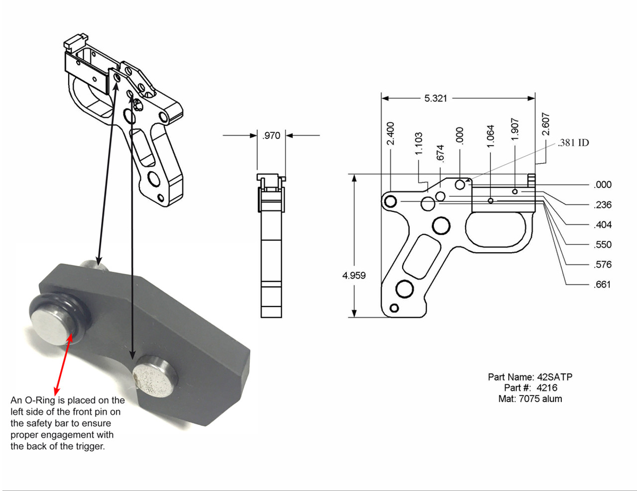 Semi Auto Trigger Adapter (Housing Only)