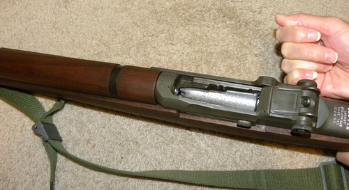 M1 Garand Training Clip & Single Shot Device (original Greek Military)