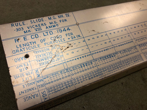 Vickers Slide Rule Scale - no case