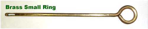 Webley Pistol Cleaning Rod - Brass Small Ring size - no markings
