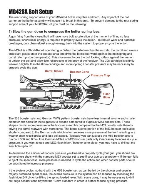 BRP Second Pattern Semi Auto Bolt Assembly