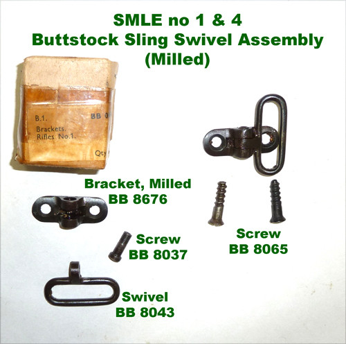 7 -  BRACKET Buttstock Complete Assembly w/ Wood Screws  (For No. 1 and No. 4)(Excellent)