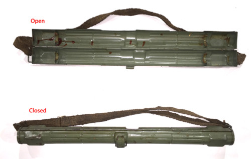 Nazi marked: Laufschützer 43/1, MG34 & MG42 dual purpose barrel carrier (ribbed)