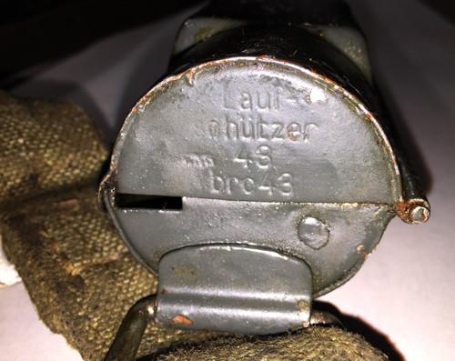 Nazi marked: Laufschützer 43, MG34 & MG42 dual purpose barrel carrier (smooth)