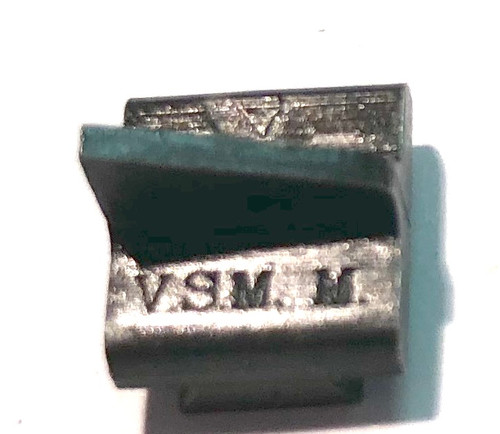 Vickers MMG Front Sight Blade - VSM marking