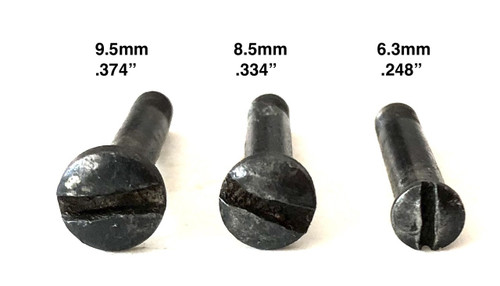 15: nose, SCREW, front (EARLY PATTERN - head 6.3mm diameter - countersunk type)