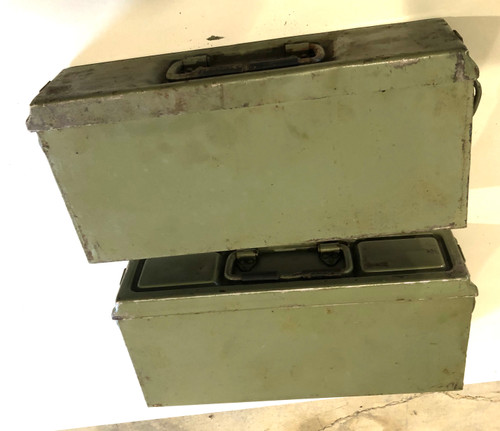 Lot of two Pattern 41  German Ammunition Cans -06