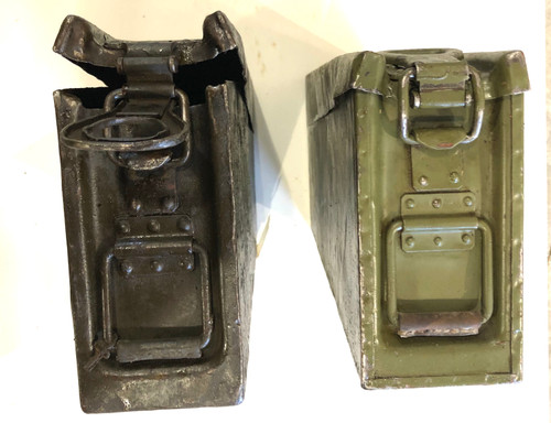 Lot of two Bent Pattern 34  German Ammunition Cans -09