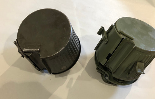 Lot of 2 Blem  WW2 Marked MG34/42 Basket Drums (HQU 44 & WC43)